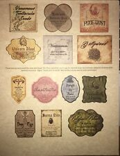 """LABELS ONLY Apothecary Potion Bottles Harry Potter Party Prop 2"""" Unique Custom"""