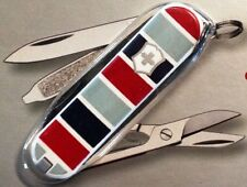 Victorinox Swiss Army Knife Red and Blue Stripe Classic SD Rare* 56226 53226 New