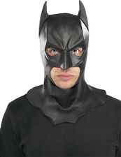 DC COMICS BATMAN FULL LATEX MASK WITH COWLING SUPER HEROE COSTUME DRESS RU4893