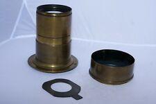 "A.M. Jarmin Darlot 12"" (305mm) f4 brass lens. France. Circa 1863. Petzval type"