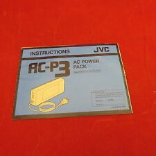 JVC AC-P3 AC Power Pack - Instructions