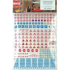 BUSCH HO scale ~ 'ROAD SIGNS, CITY' ~ PLASTIC MODEL KITSET #6028