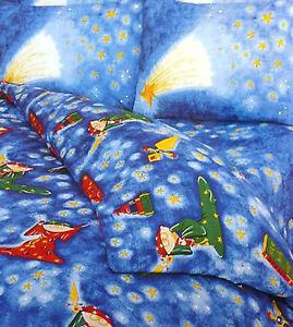 children Single duvet cover set Boys blue with stars wizard magic wand print