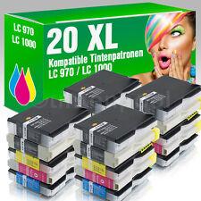 20 Druckerpatronen für Brother LC970 LC1000 MFC 5460 CN