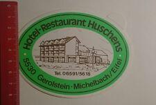 Aufkleber/Sticker: Hotel Restaurant Huschens Gerolstein Michelbach (271216132)