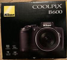 Nikon Coolpix B600 16MP Digital Camera 60x Optical Zoom Black Full-HD BRAND NEW