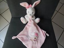 doudou peluche mouchoir lapin blanc rose Sweet Baby Dreams lune SIMBA TOYS 2X