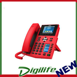 "Fanvil X5U High End Enterprise IP Phone - 3.5"" Colour Screen, 16 Lines-RED"