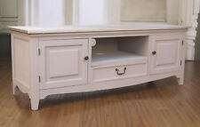 Entertainment TV Unit French Provincial Timber Top Antique Grey Media Unit NEW