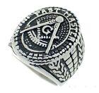 Masonic rings ebay Freemason Ring - Past Master Ring w/ Text and antiqued design