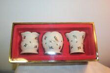 Set of 3 Lenox Williamsburg Boxwood and Pine Votive Candle Holders ~ Nib
