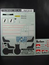 DECALS 1/24 PEUGEOT 206 WRC 2003 PRESENTATION - COLORADO  2487