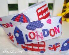 Ruban gros grain galon fantaisie -Londres-Angleterre- London -England - 22mm x1m