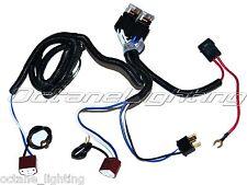 "Ceramic H4 Headlight Relay Wiring Harness 2 Headlamp Light Bulb Socket Plugs 7"""