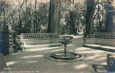 MEXICO CITY – Chapultepec Fuente Del Quijote Real Photo Postcard rppc – Mexico