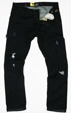 G-STAR jeans uomo STATO Chino Tapered Fit W32 L32 RUGBY DISTRUGGERE cotone