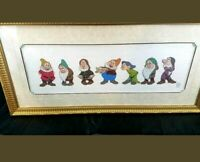 "LARGE Walt Disney Snow White Seven Dwarfs COA ""Time To Wash Up"" L.E.D. CEL"