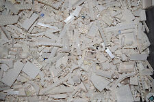 100+ WHITE LEGO PIECES FROM HUGE BULK LOT BRICKS PARTS RANDOM NO MINIFIGURES