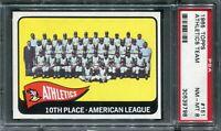 1965 Topps #151 Athletics Team Card PSA 8 NM-MT