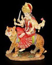 Durga FIGURA DE COLORES Paseos en auf tigre - Diosa Hindú Buda