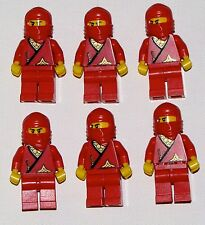 LEGO LOT OF 6 CASSIC RED NINJA MINIFIGURES MINIFIGS FIGURES