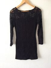 Atmosphere Black Dress Long Sleeve Lace Size 10 <R1733