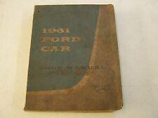 Original 1961 Ford Shop Manual Book Galaxie 500