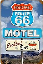 Route 66 Motel Cocktail Bar steel sign    (pst 1812)  REDUCED TO CLEAR----------
