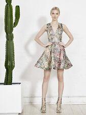 Alice + Olivia 'Varita' Fit & Flare Metallic Dress ( Size 10)