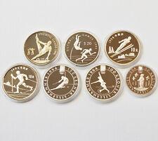 7 Silbermünzen 925 Sterling Silber 205,37 g Olympische Spiele 1992 / 1993 PP COA