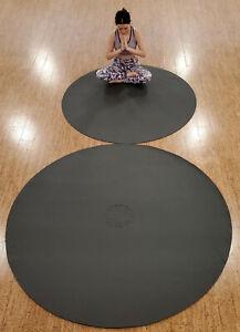SISYAMA® TAI-CHI YIN-YANG CIRCLE ROUND YOGA MAT GYM MEDITATE PILATES 5' 6' Black