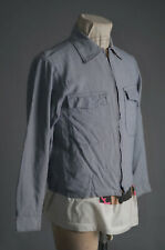 Vtg 1950 - 60'S Rayon Rockabilly Work Jacket Reversible Conmar Zipper