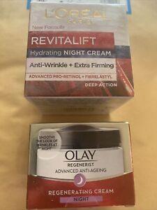 Loreal And Olay Tevitalft Creams. Sealed New