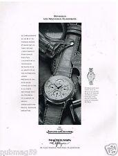 Publicité Advertising 1989 La Montre Odysseus Jaeger-LeCoultre