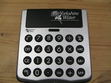 Solar Powered Calculator Logo Yorkshire Water Large Buttons Easy Read Display