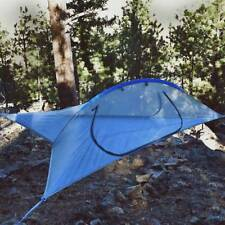 Two person double hammock Flying hanging tree tent with Removable rainfly(Gray)