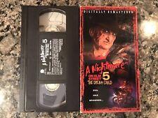 A NIGHTMARE ON ELM STREET 5 VHS! 1989 Slasher! See) Shocker & Scream