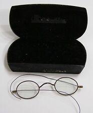 Vintage Early Eyeglasses and Case Art Deco Logo Plate in Case Bethlehem PA