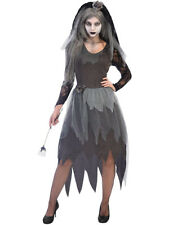 Adults Graveyard Bride Fancy Dress Halloween Costume Zombie Corpse Ladies Ghost