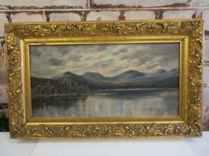 really old PAINTING oil Scotland landscape signed