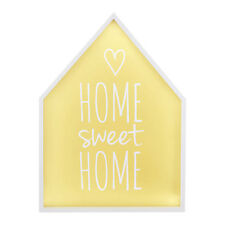LED Light Box Home Sweet Home MDF & Polystyrene Bedroom Bedside or Wall Lamp