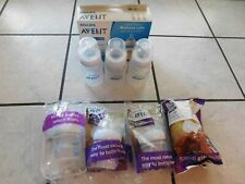 7 New  Philips Avent Natural Baby Bottle Clear Lot 4 x 4oz  3-pk  9oz