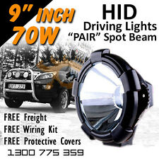 HID Xenon Driving Lights - Pair 9 Inch 70w PRO Spot Beam 4x4 4wd Offroad 12v 24v