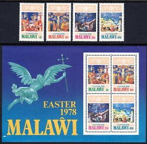 Malawi 1978 Easter set & souvenir sheet