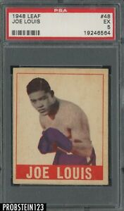 "1948 Leaf Boxing #48 Joe Louis PSA 5 EX "" LOOKS UNDERGRADED """