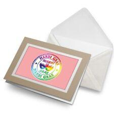 Greetings Card (Biege) - Mardi Gras Parade Carnival  #5164