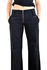 BNWT FORNARINA LADIES BLACK jeans Trousers Pants Vintage 90s W26 Uk8 S SUPER