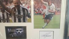 alan shearer genuine hand signed  23x18 proffesional framed display