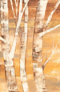 """Wandering through the Birches II 70"""" x 46"""" Canvas or Art Paper Print"""