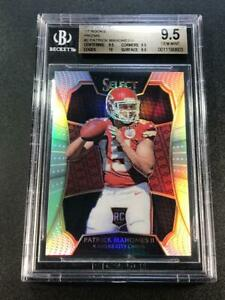 PATRICK MAHOMES 2016 PANINI SELECT DRAFT REDEMPTION PRIZM REFRACTOR BGS 9.5 10